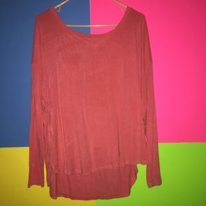 Mossimo Women's Hot Pink V Neck Top XXL